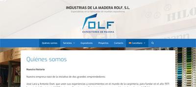 Ejemplo de Web en WordPress de nuestro cliente Industrias Rolf