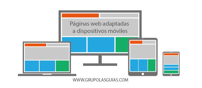 Páginas web adaptadas a dispositivos móviles