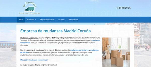 Mudanzas Madrid Coruña